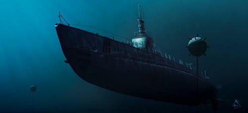 Dangerous Waters : USS Gato Class Submarine by rOEN911