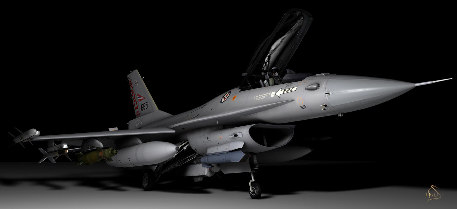 F-16 by rOEN911