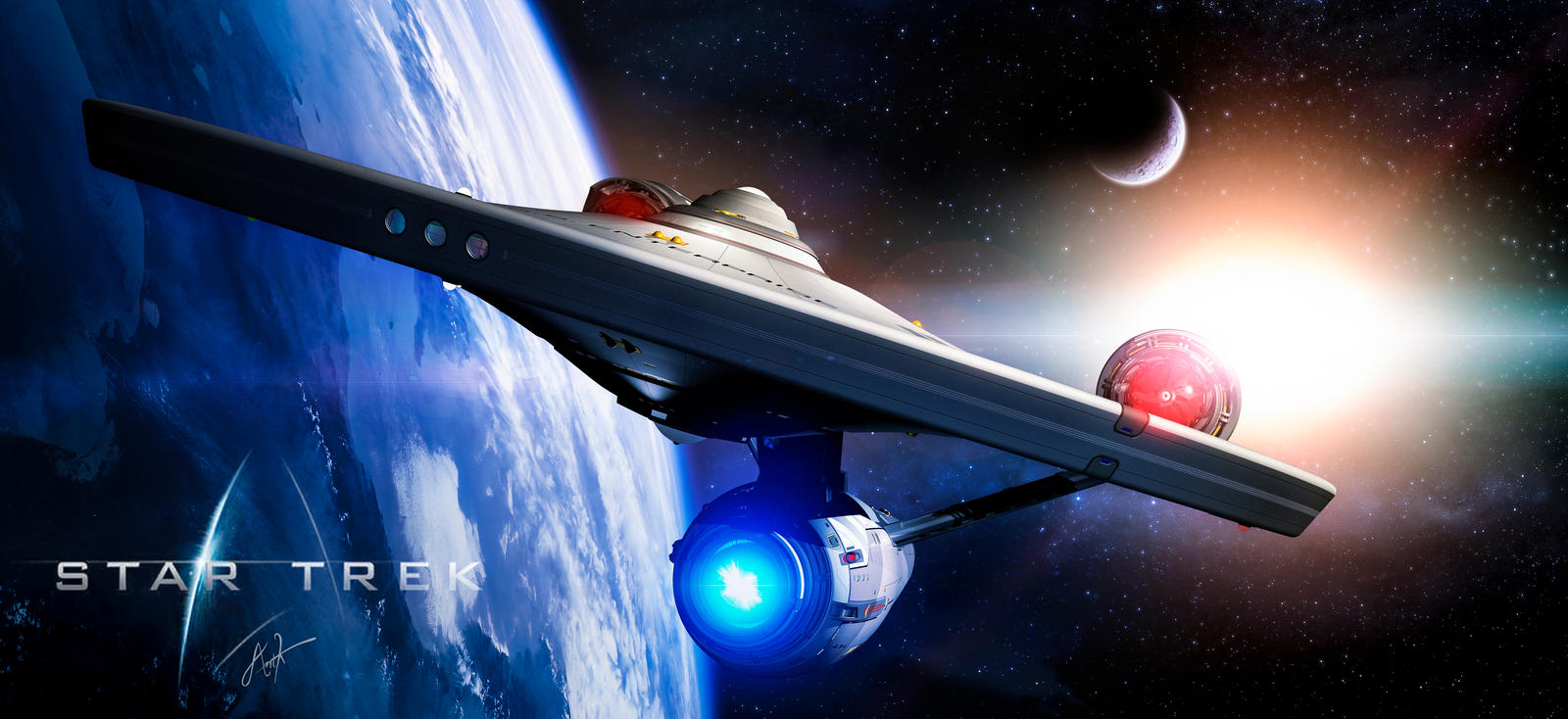 star trek - Constitution Class  Starship by rOEN911