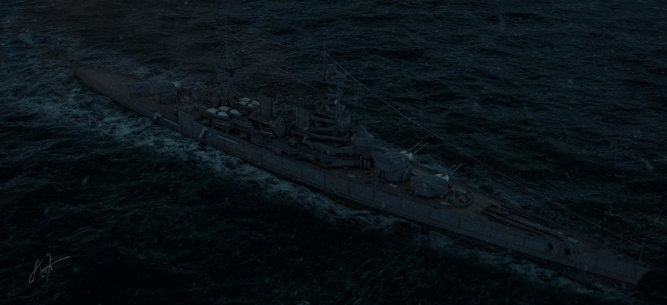 The HMS Hood by rOEN911