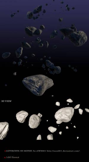 High Quality  Asteroids 3D model (obj format)
