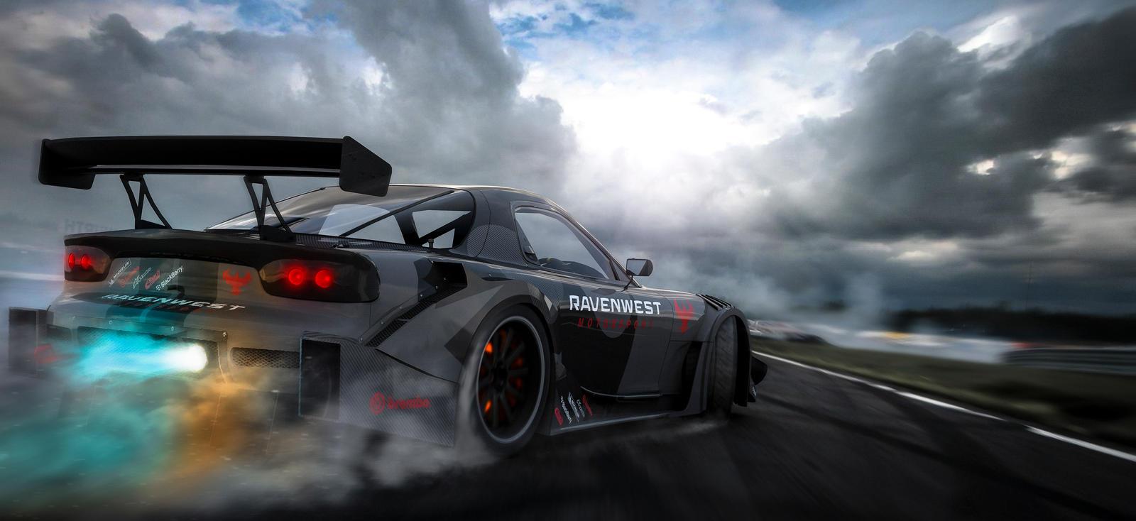 Drifting Race Car Drivers