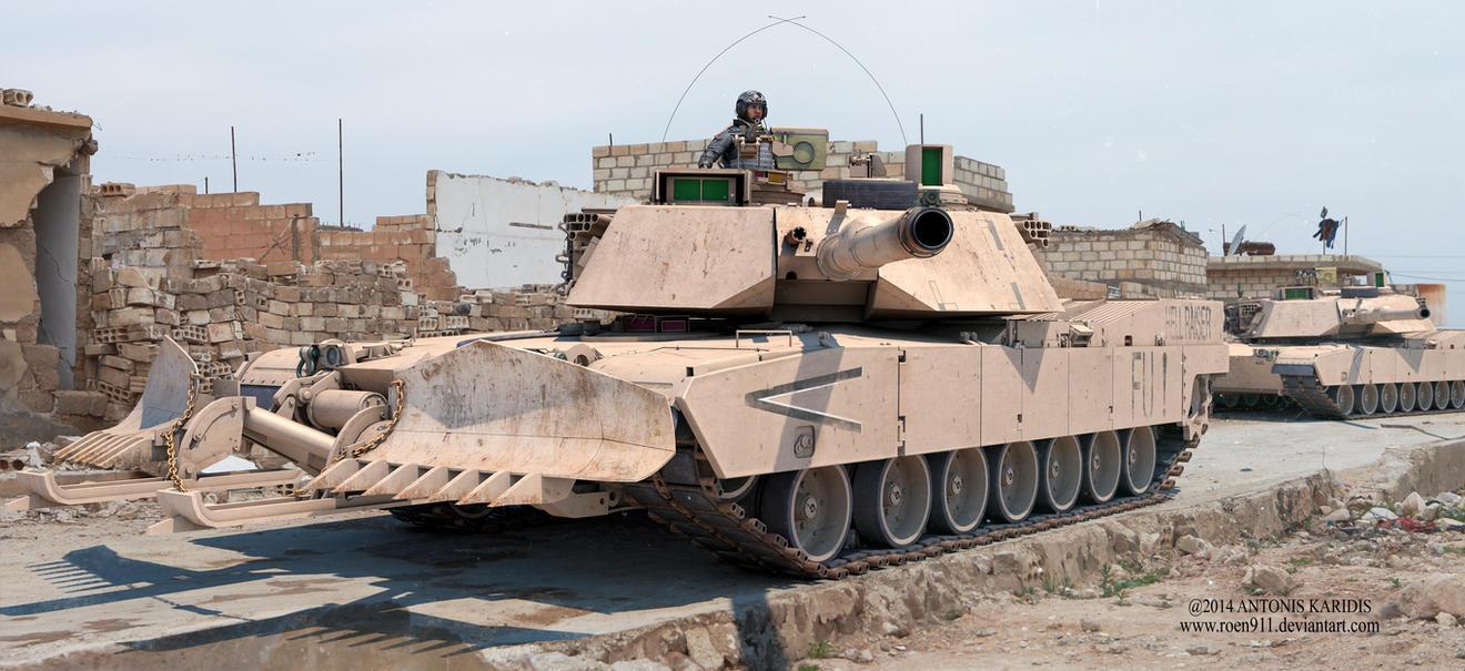 Dusty Warrior - M1 Abrams by rOEN911