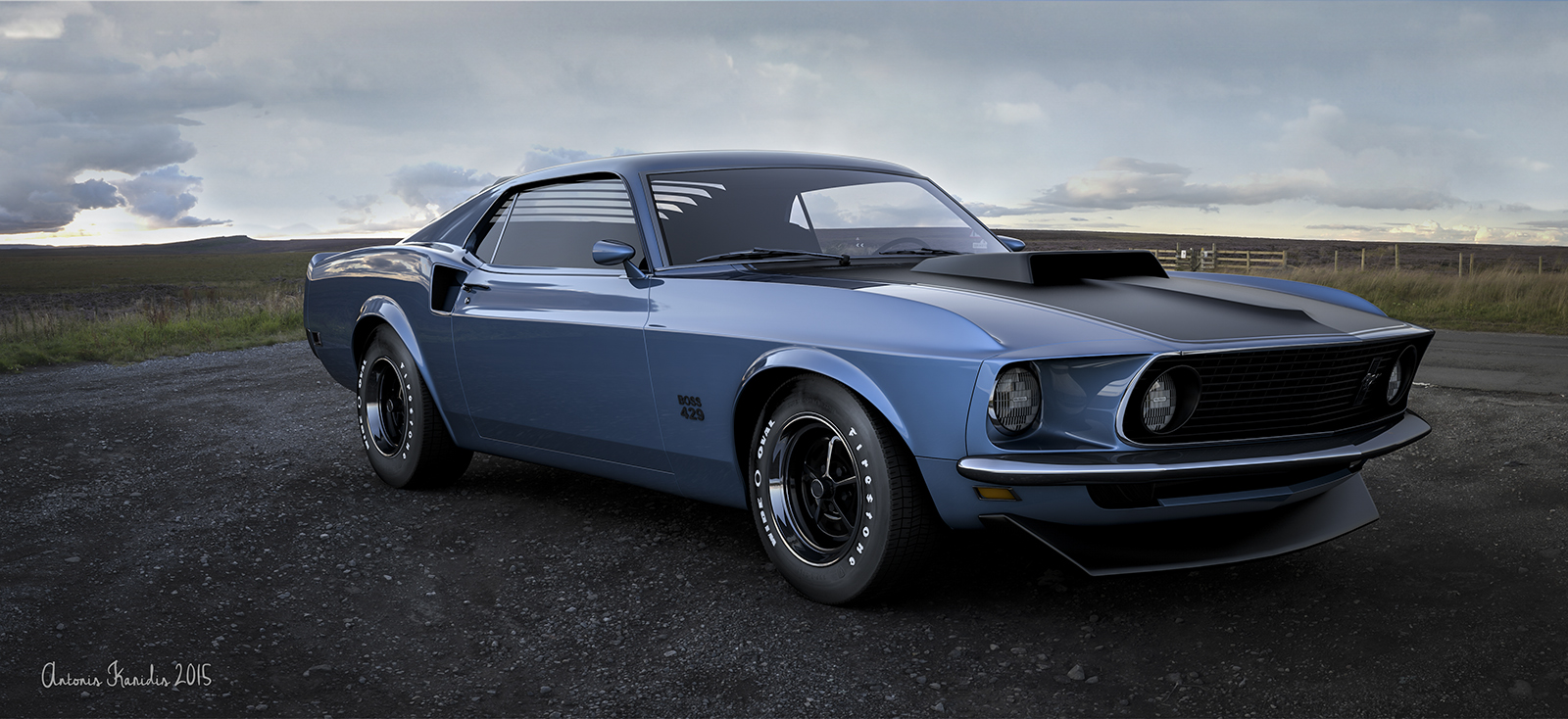 ford mustang boss 429 by roen911 on deviantart. Black Bedroom Furniture Sets. Home Design Ideas