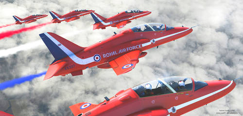 RAF Red Arrows by rOEN911
