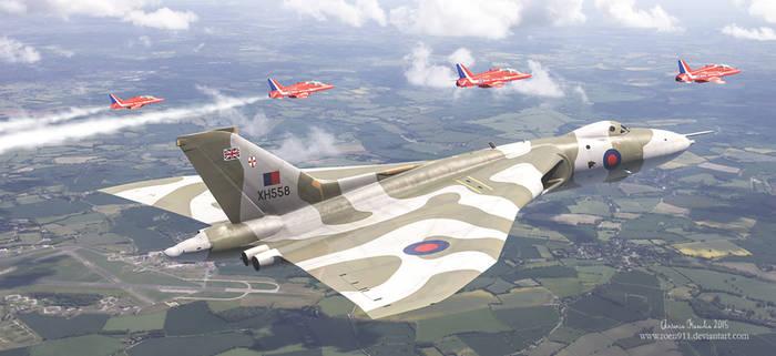 The Last Royal Escort - Avro Vulcan xh558