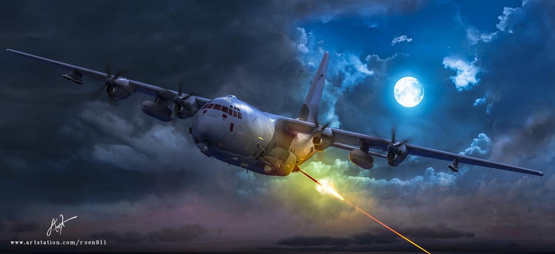 AC-130J Ghostrider Gunship by rOEN911