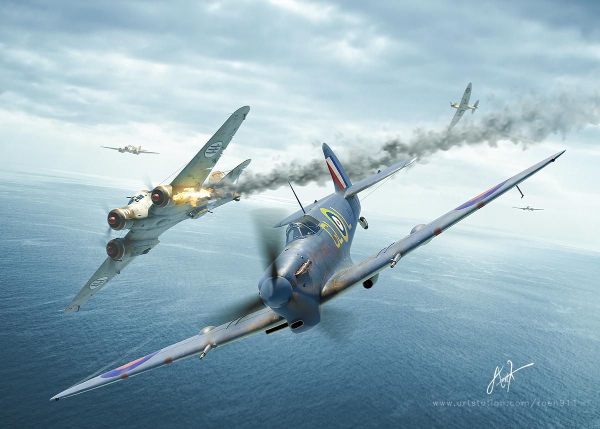 Flypast Original Artwork ! by rOEN911