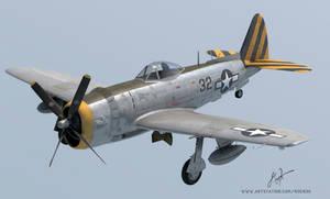 Republic P-47-N Thunderbolt 3d model