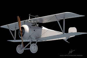 Nieuport 17 3d model by rOEN911