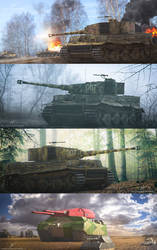 Commissioned Tank artworks part 1 by rOEN911