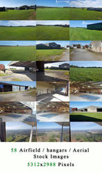 Airfield / Hangars / Aerial Stock Images