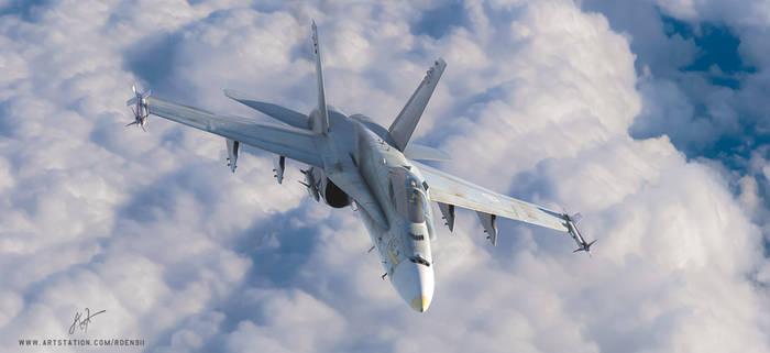 F-18 Hornet by rOEN911