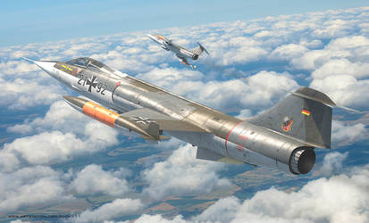Modern luftwaffe- f-104 starfighter