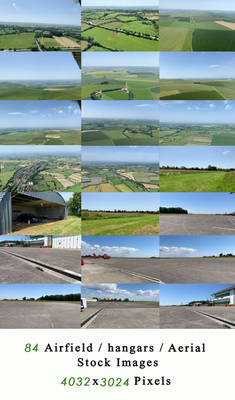 Airfield  Hangars  Aerial Stock Images part 2