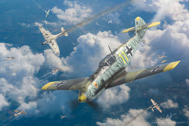 Bf 109 E-4 ,  JG 54 - Battle of Britain by rOEN911