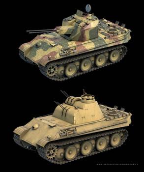 Fakpanzer Panther 3D models