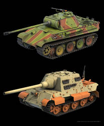 sd.kfz.186 jagdtiger and Panther Tank (WIP)