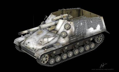 SdKfz 165 Panzerhaubitze Hummel 3D Model