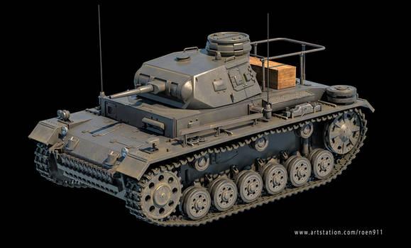 Panzer III command tank 3d model