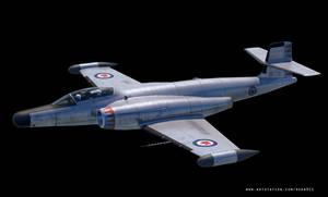 Avro Canada CF-100 Canuck 3D model - WIP