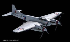 De Havilland Hornet - 3D model