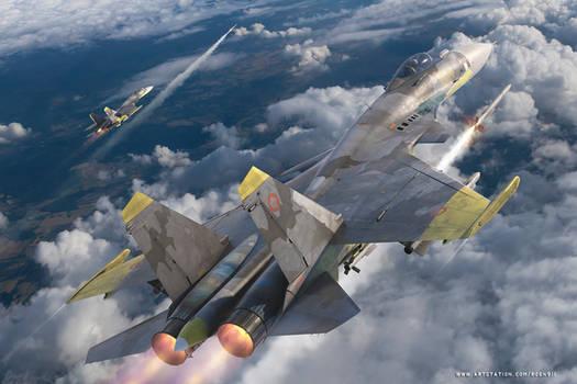 Ace Combat Su-33 - Yellow Squadron 04