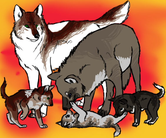 Roxy the She-Wolf Wolf_family_1_by_mimmiley-d3l05qs