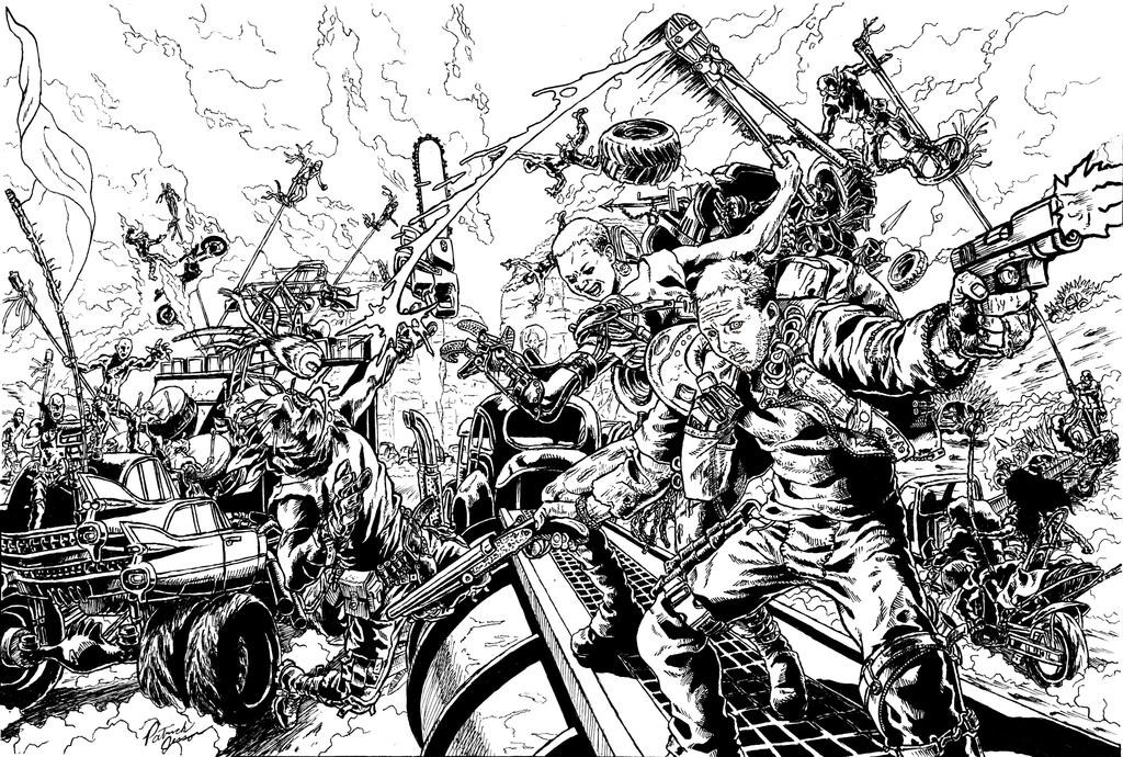 Mad Max Fury Road line drawing by patrickjay on DeviantArt