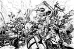 Mad Max Fury Road line drawing by patrickjay