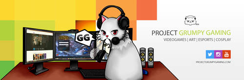 Twitter Header ProjectGrumpyGaming by Anpekora
