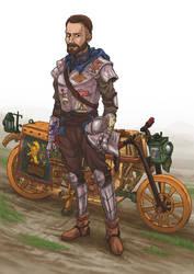 Medieval Biker by foice