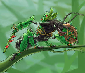 Ant warrior by foice