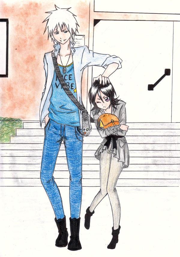 Hichidaruki school days by angyvalentine on deviantart for Bleach nice vibe shirt