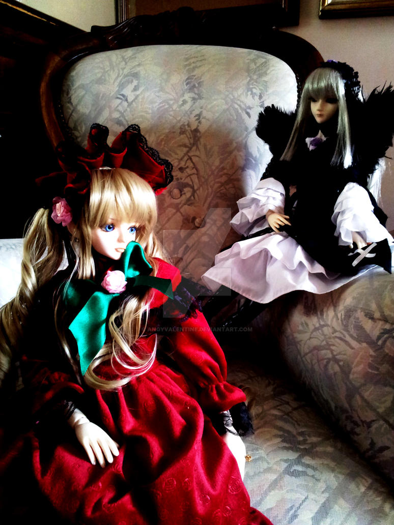 Suigintou and Shinku BJD - Rivals by AngyValentine