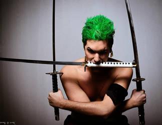 Zoro Roronoa Santoryu cosplay by ScarletVonD