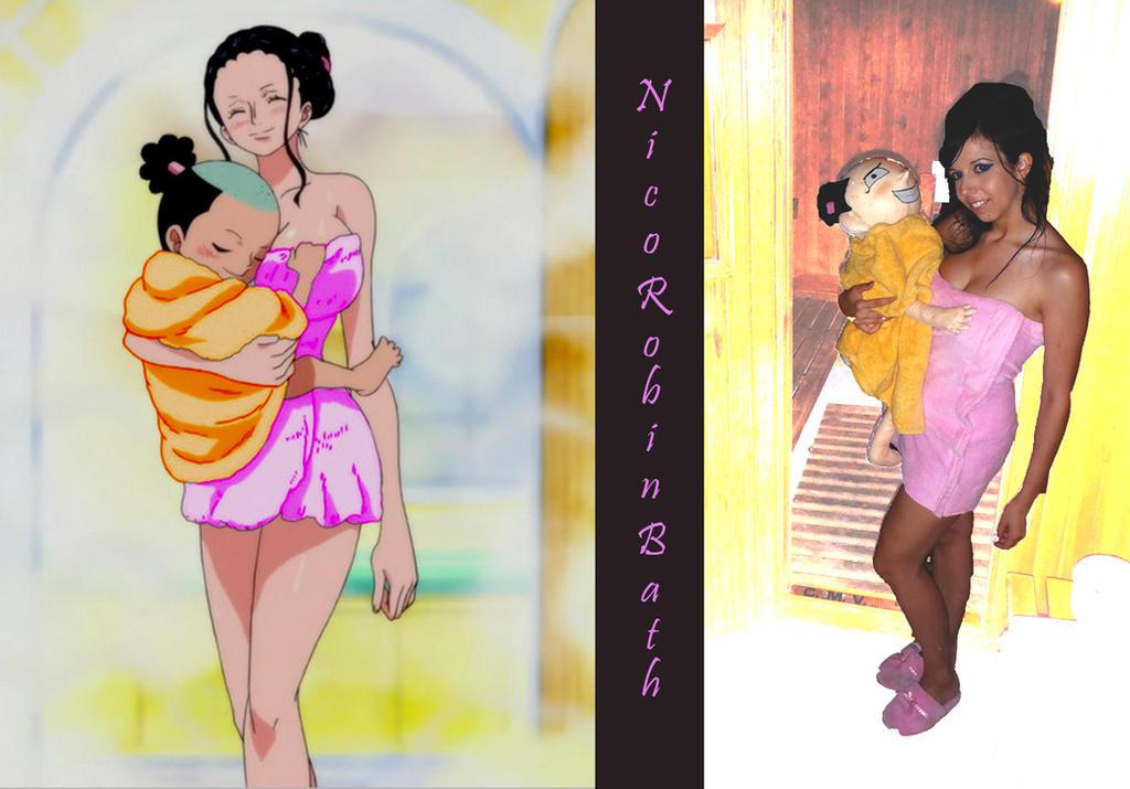 Nico Robin With Momonosuke by ScarletVonD on DeviantArt
