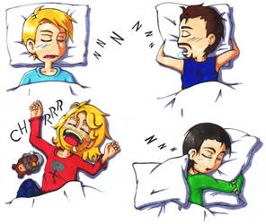 Sleeping Avengers by Freaky-chan