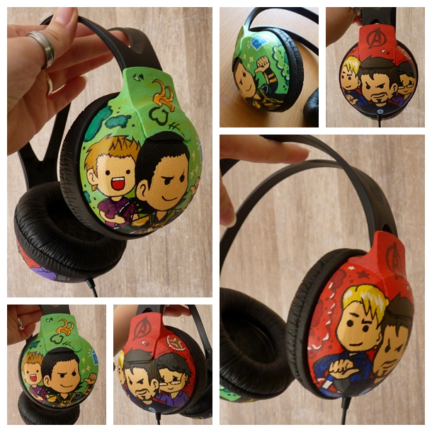 Avengers Headphones by Freaky-chan