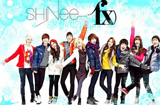FREE! Winter f(x) SHINee Wallpaper!!
