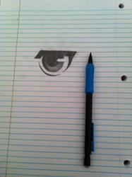 Random eye sketch shading test by LPeebles