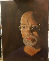 Self-Portrait in Chiaroscuro by MichaelLWoods1701