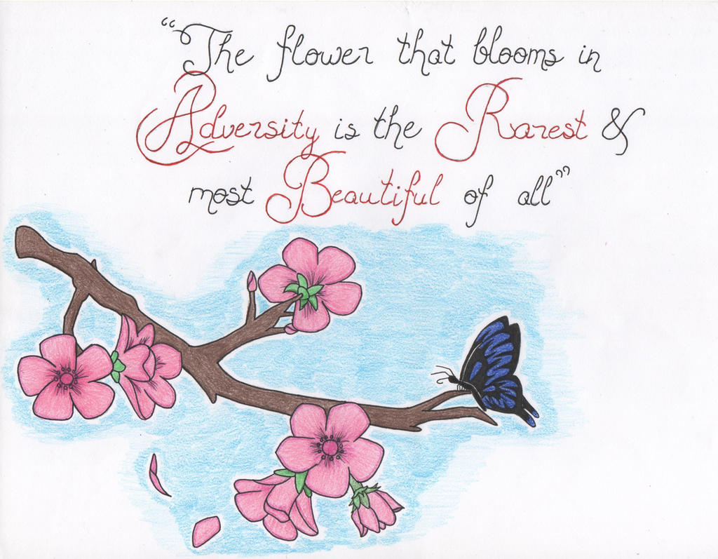 The Flower that Blooms in Adversity by RoxiiRoxas on DeviantArt