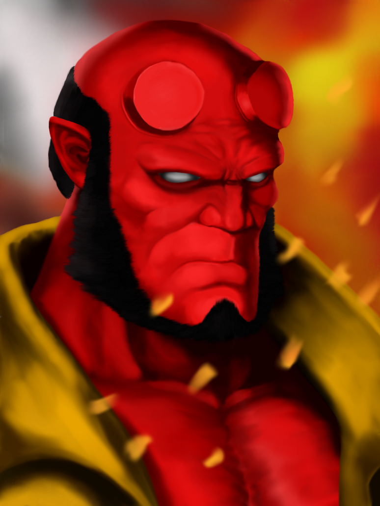 Hellboy by HitchHiker-Matt