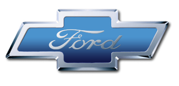 chevy ford logo by stuntdoublejoe on deviantart. Black Bedroom Furniture Sets. Home Design Ideas