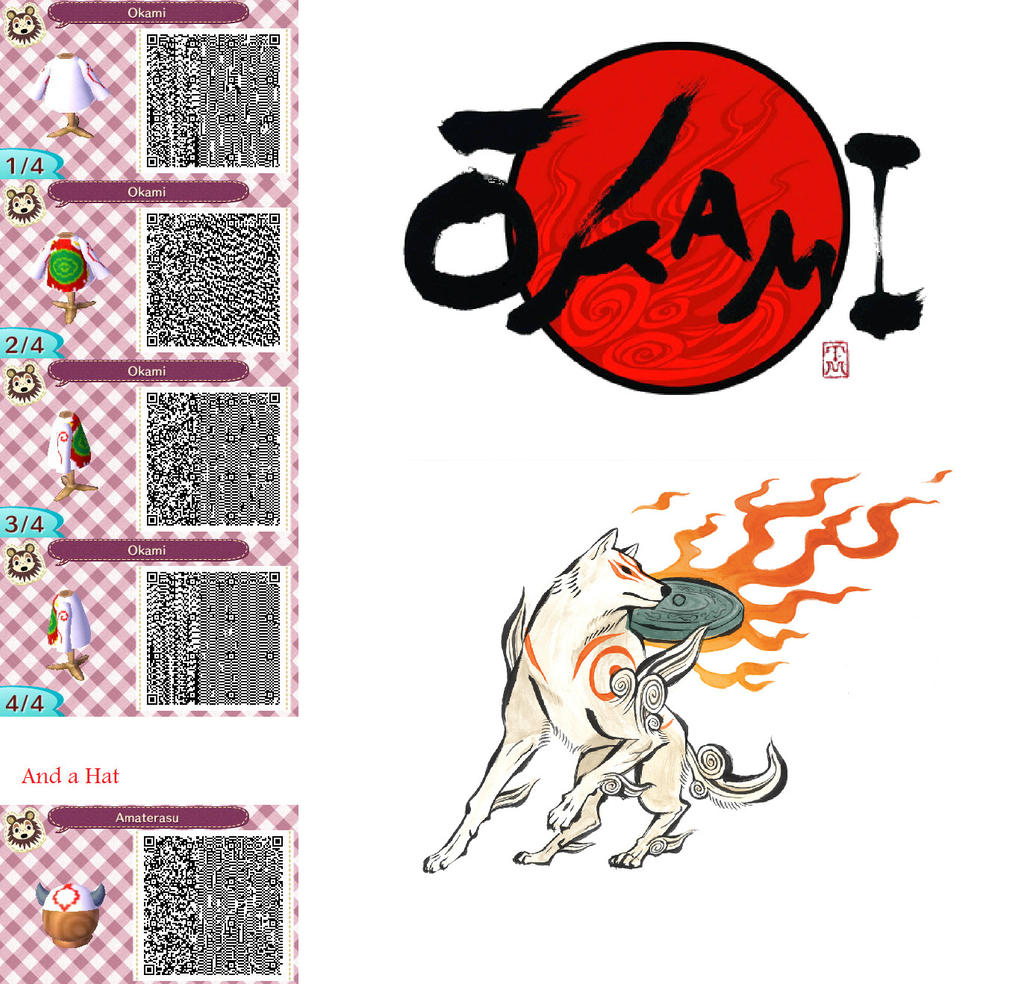 Okami Amaterasu Animal Crossing New Leaf QR code by SoulRioluQr Codes Animal Crossing New Leaf Pokemon