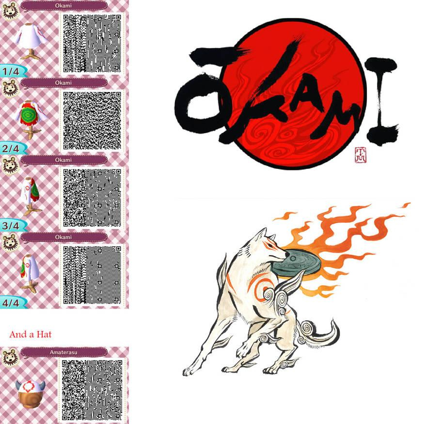 Okami Amaterasu Animal Crossing New Leaf Qr Code By Soulriolu On Deviantart