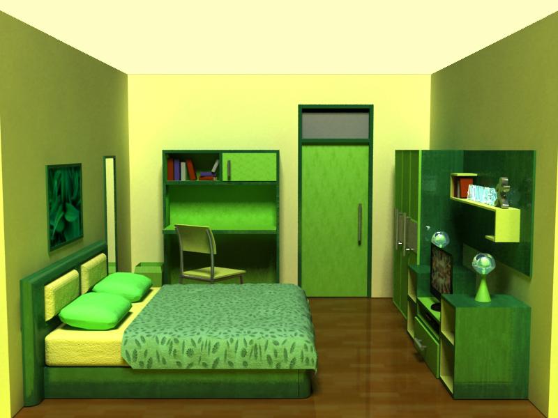 kamar tidur 3d by d 737 on deviantart