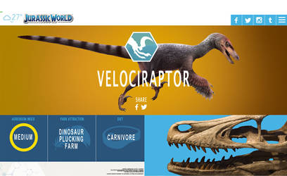 Jurassic world Velociraptor by PREHISTOPIA
