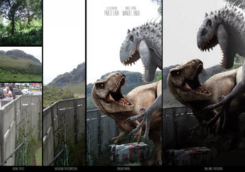 T-REX VS INDOMINUS Making off by PREHISTOPIA